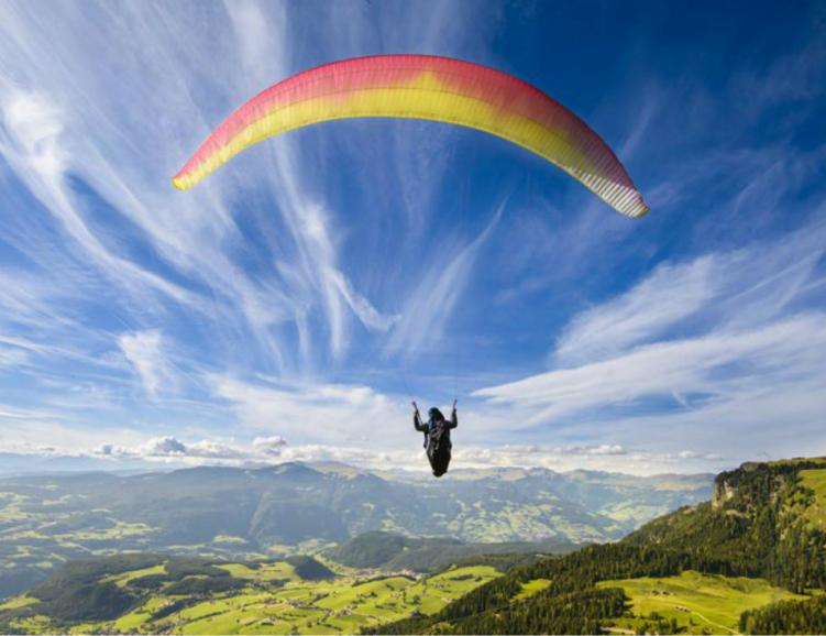 Vol en parapente bi-place, grands airs
