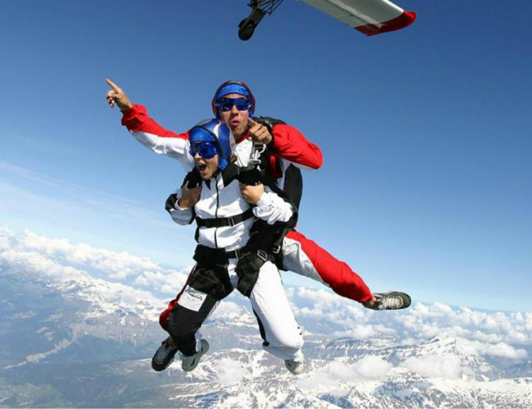 Parachute avec photo et vidéo