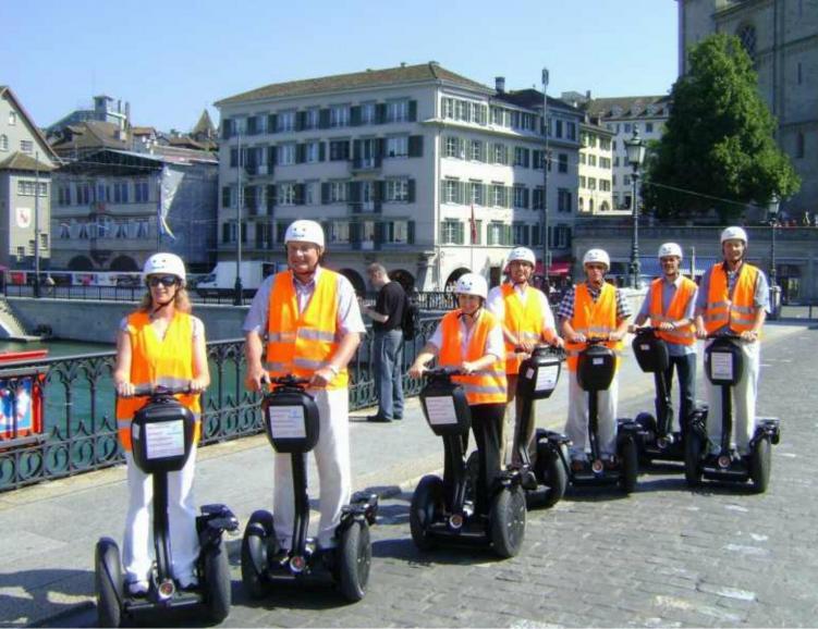 Tour de ville en Segway, Bâle, Zürich ou Berne