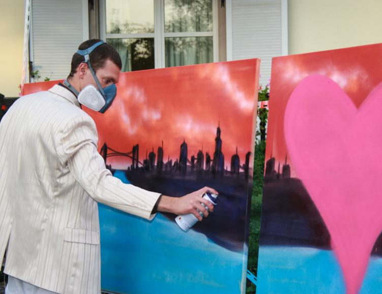 Initiation au Tag, Graffiti avec toile souvenir