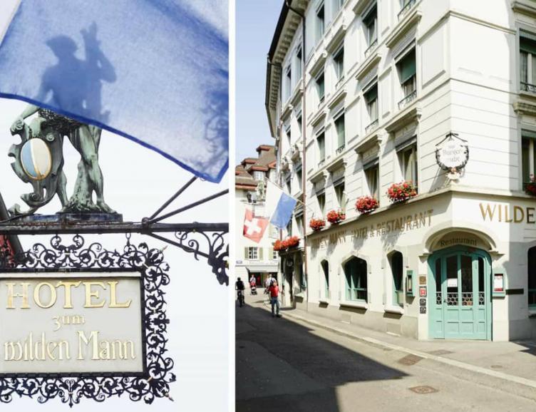 Repas à l'hôtel Romantik Wilden Mann