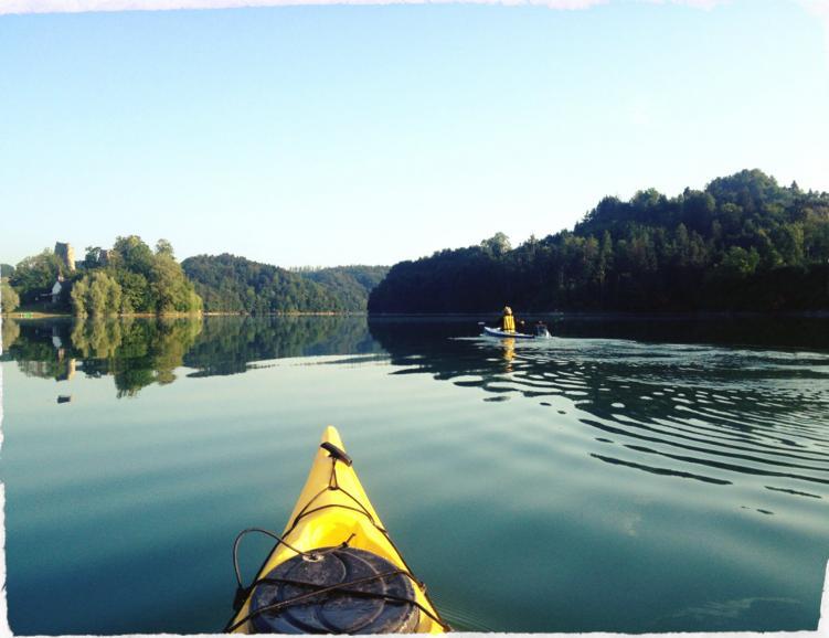 Soirée Fondue-kayak sur le lac de la Gruyère