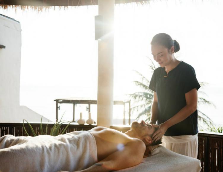 Massage visage et crâne